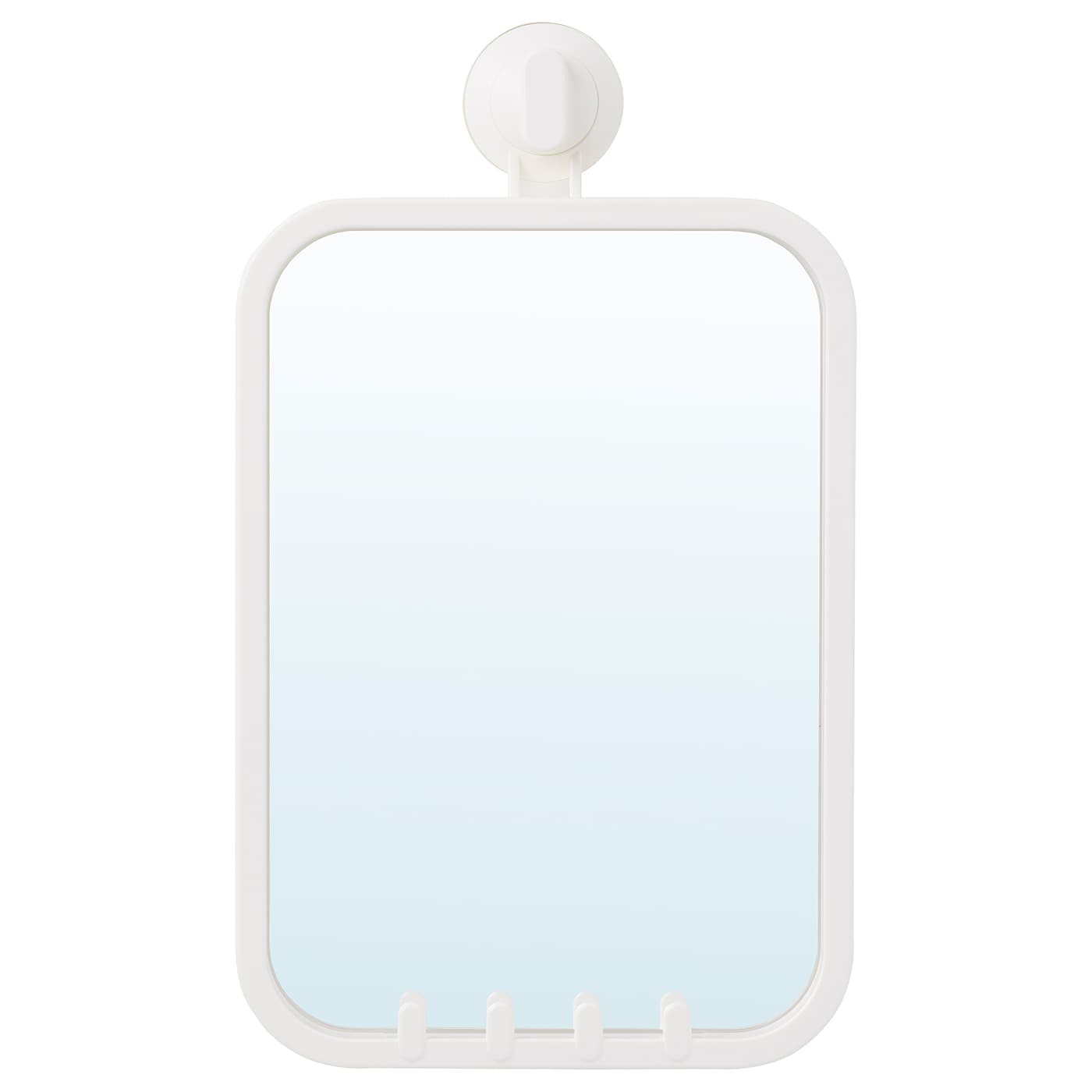 IKEA STUGVIK mirror with hooks and suction cup With a suction cup that grips smooth surfaces.
