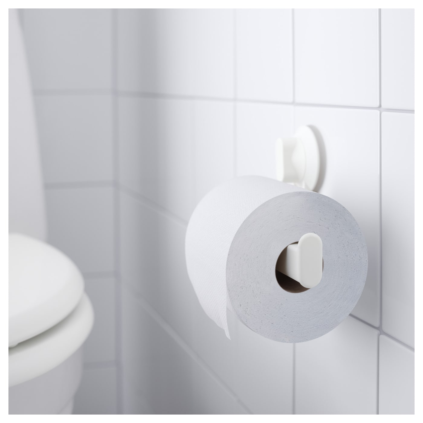 Stugvik Toilet Roll Holder With Suction Cup White Ikea