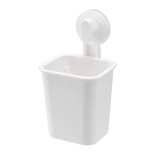 IKEA STUGVIK toothbrush holder with suction cup With a suction cup that grips smooth surfaces.