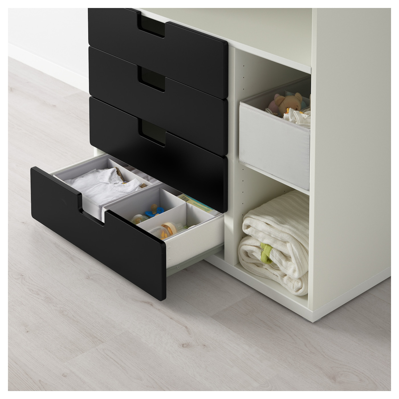 Trysil Ikea Bed Frame Review ~ Changing table with 4 drawers STUVA White black