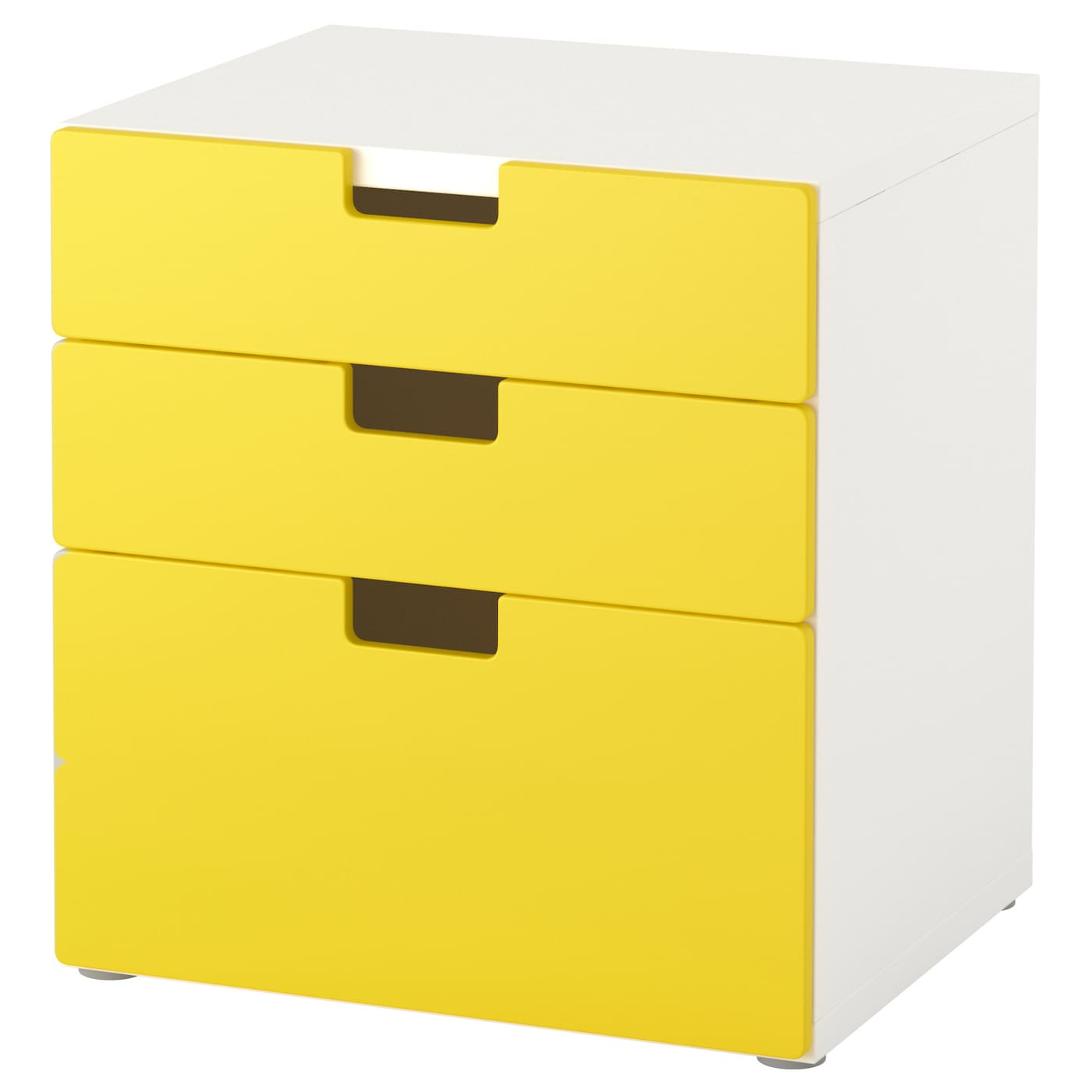 Stuva Chest Of 3 Drawers Yellow 60x64 Cm Ikea