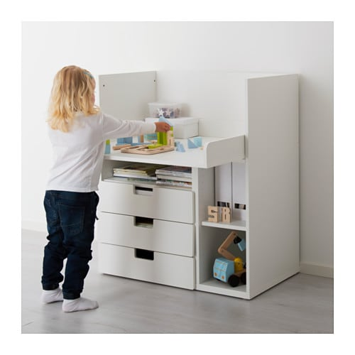 stuva desk with 3 drawers white 90x79x102 cm ikea. Black Bedroom Furniture Sets. Home Design Ideas