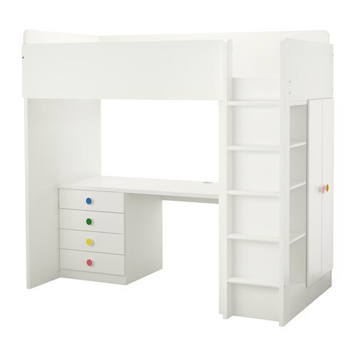 IKEA STUVA/FÖLJA loft bed combo w 4 drawers/2 doors