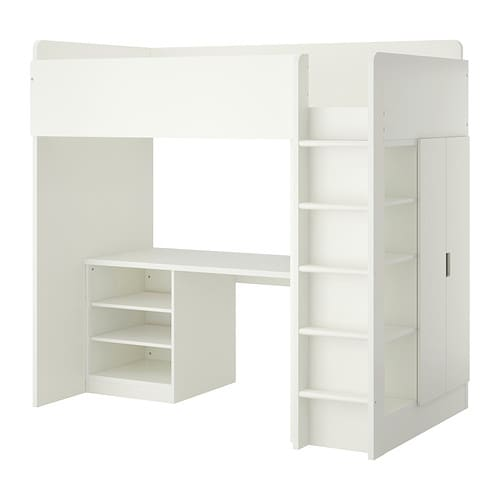 IKEA STUVA loft bed combo w 2 shelves/2 doors