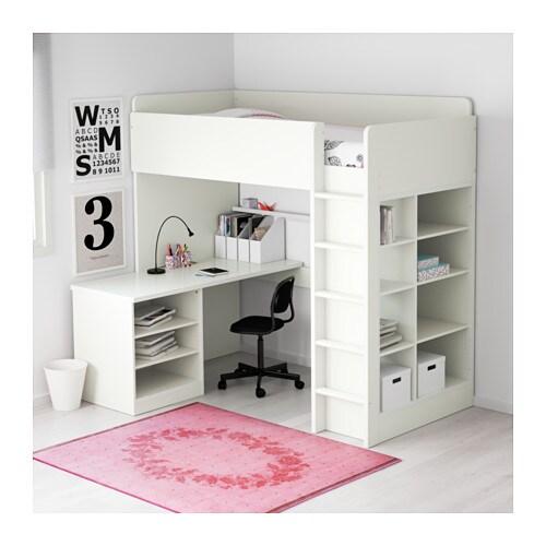 stuva loft bed combo w 2 shlvs 3 shlvs white 207x99x193 cm ikea. Black Bedroom Furniture Sets. Home Design Ideas