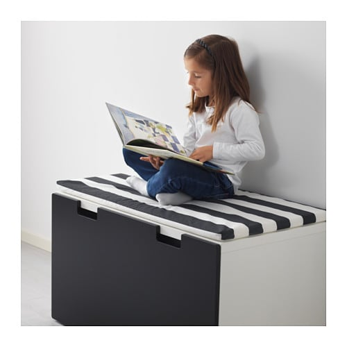 IKEA STUVA storage bench Stands steady also on uneven floors since adjustable feet are included.
