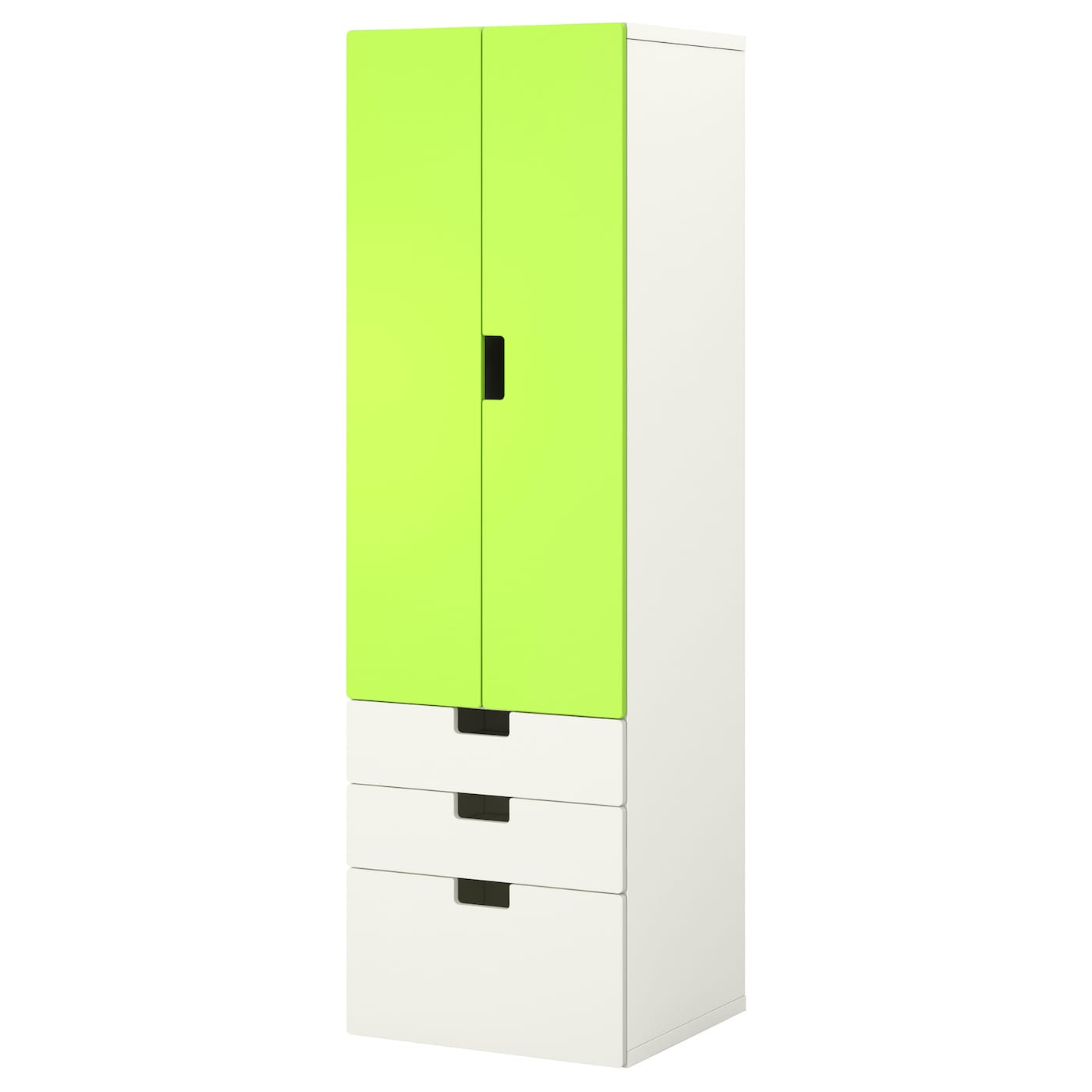 stuva storage combination w doors drawers white green 60x50x192 cm ikea. Black Bedroom Furniture Sets. Home Design Ideas