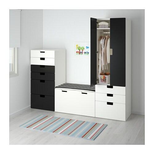 stuva storage combination white black 210x50x192 cm ikea. Black Bedroom Furniture Sets. Home Design Ideas