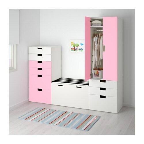 stuva storage combination white pink 210x50x192 cm ikea. Black Bedroom Furniture Sets. Home Design Ideas