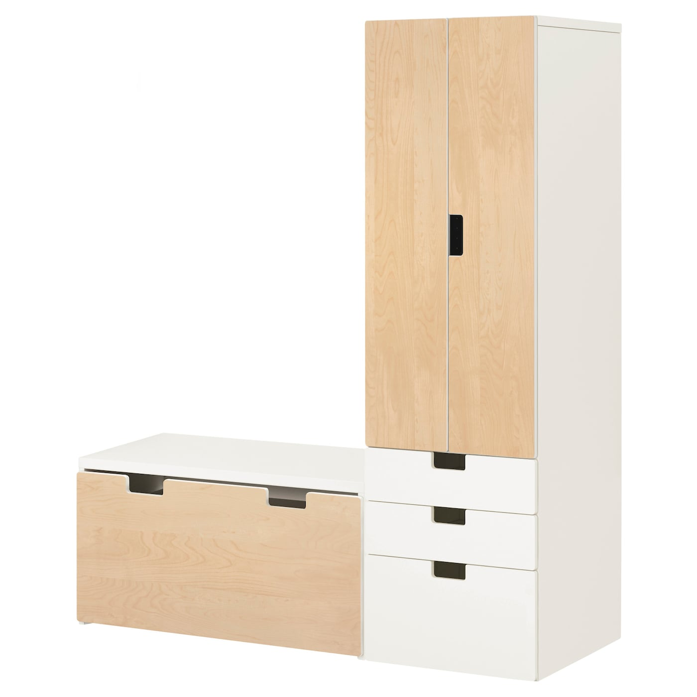 stuva storage combination with bench white birch. Black Bedroom Furniture Sets. Home Design Ideas