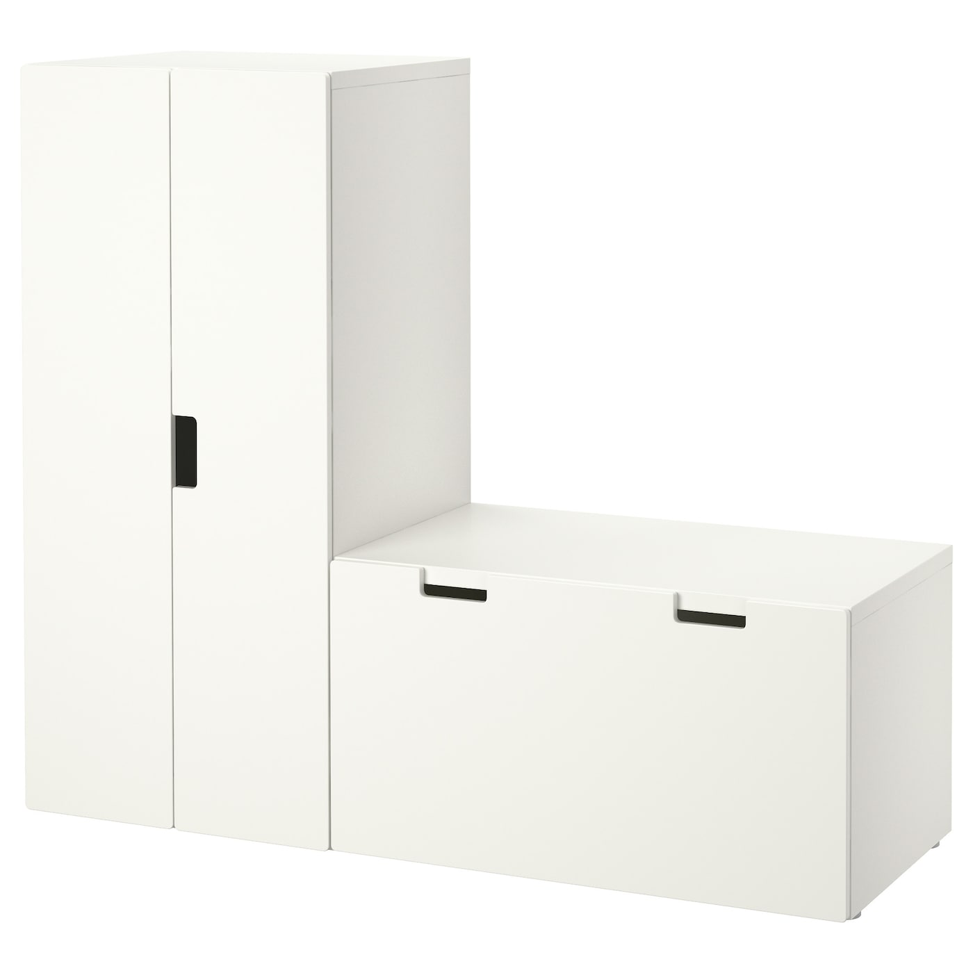 Stuva Storage Combination With Bench White White 150x50x128 Cm Ikea
