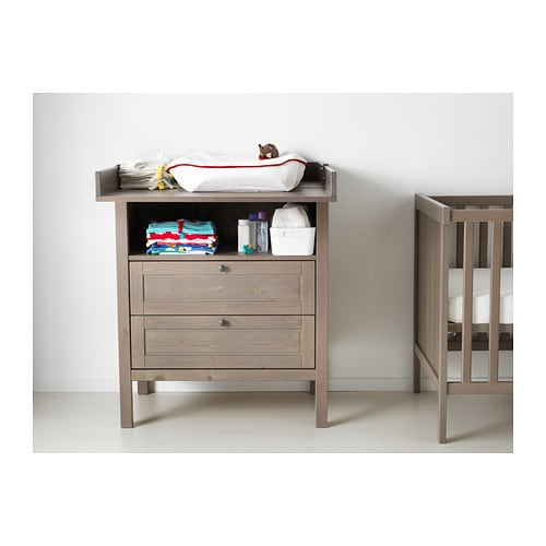 IKEA SUNDVIK changing table/chest of drawers Comfortable height for ...