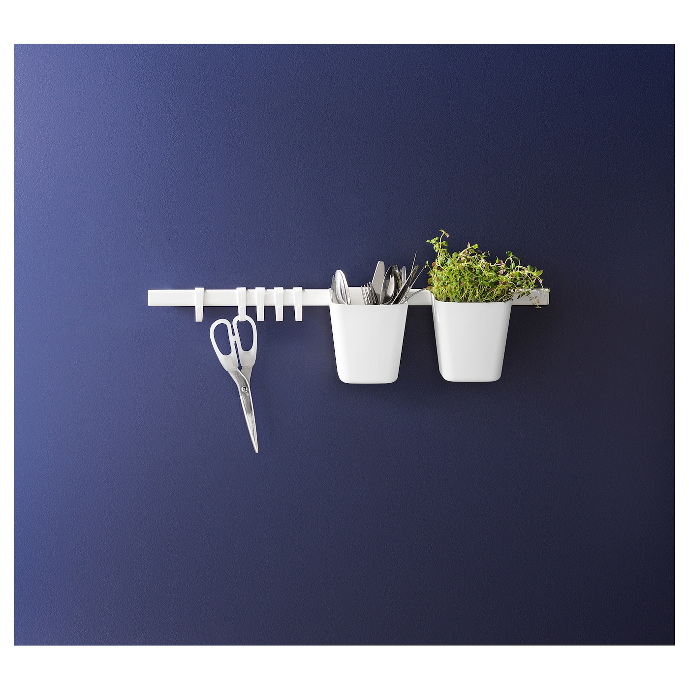 IKEA SUNNERSTA rail Saves space on the worktop. Can also be used as a towel rail.
