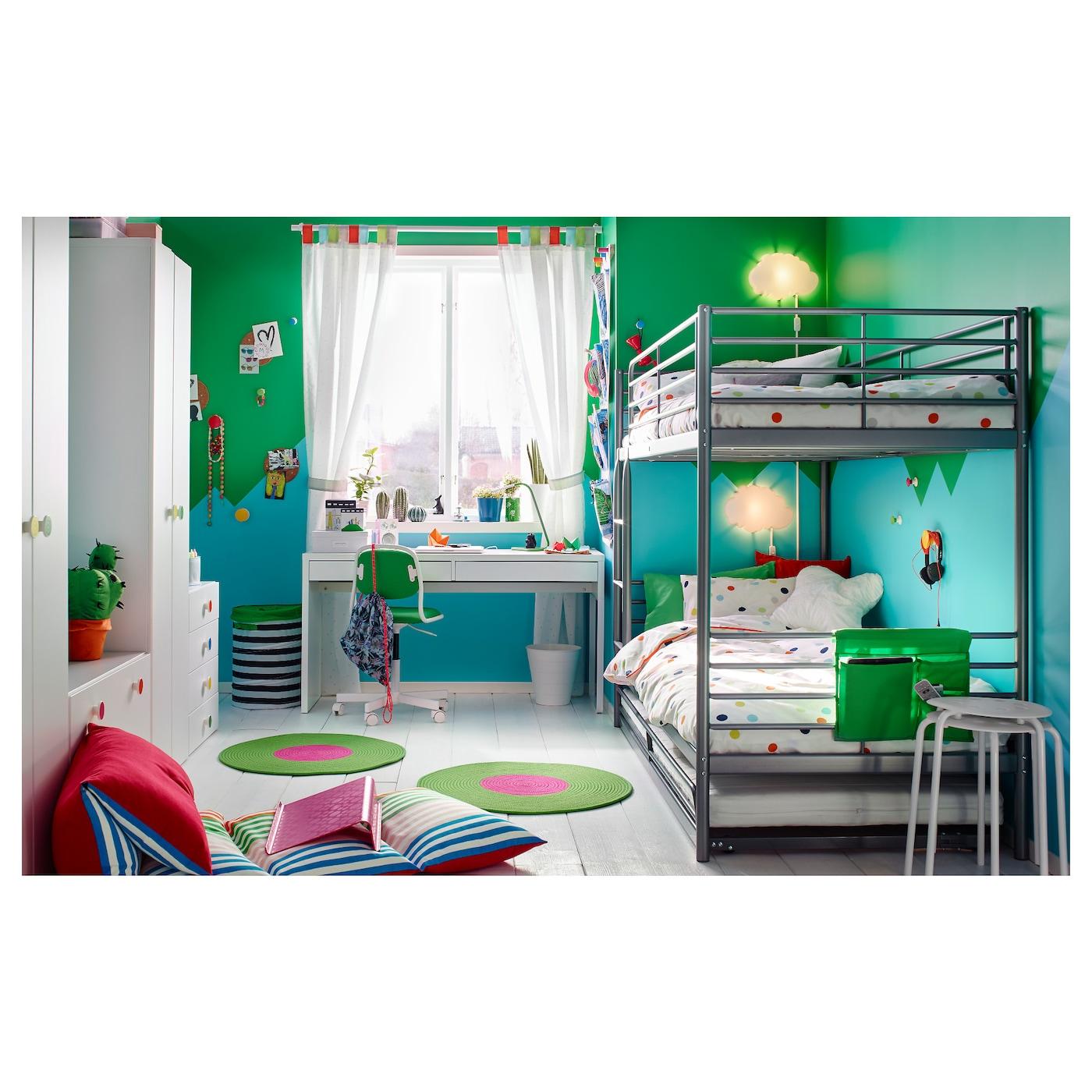 sv rta bunk bed frame silver colour 90x200 cm ikea. Black Bedroom Furniture Sets. Home Design Ideas