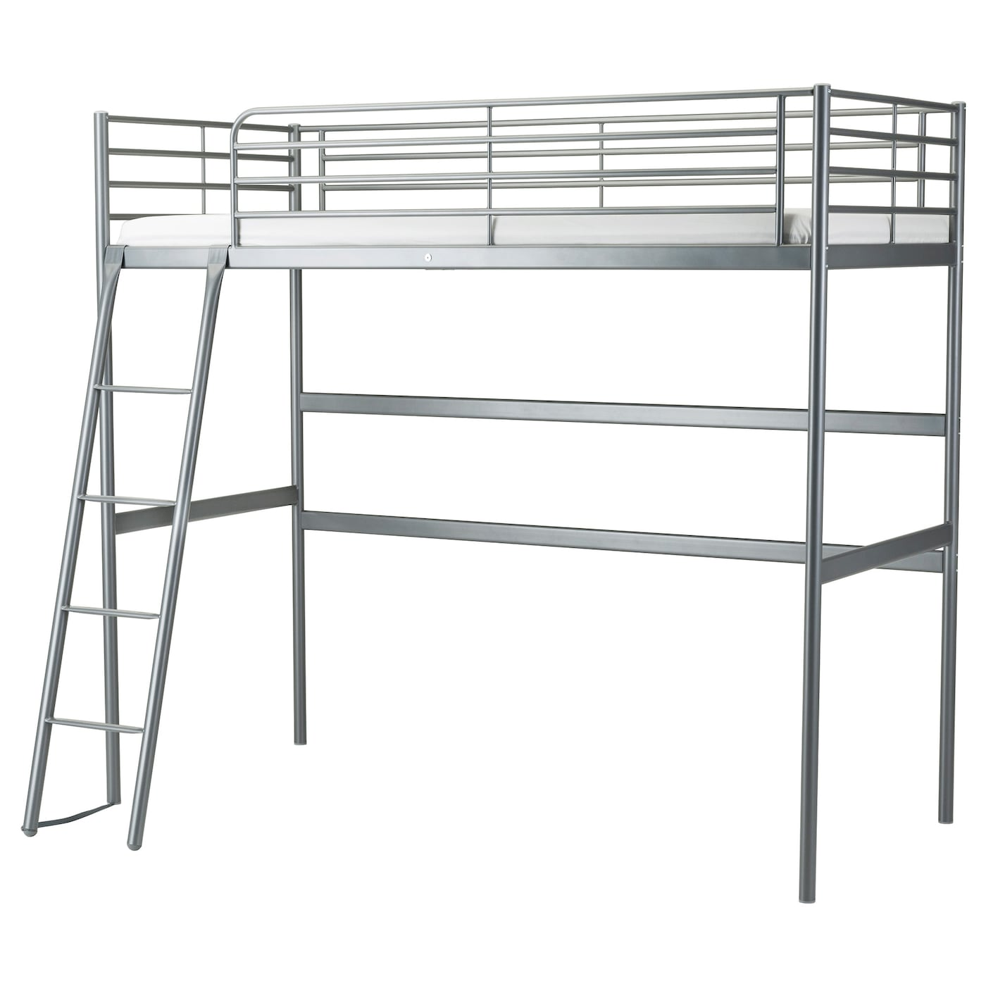 IKEA SVÄRTA loft bed frame The ladder mounts on the right or the left side of the bed.