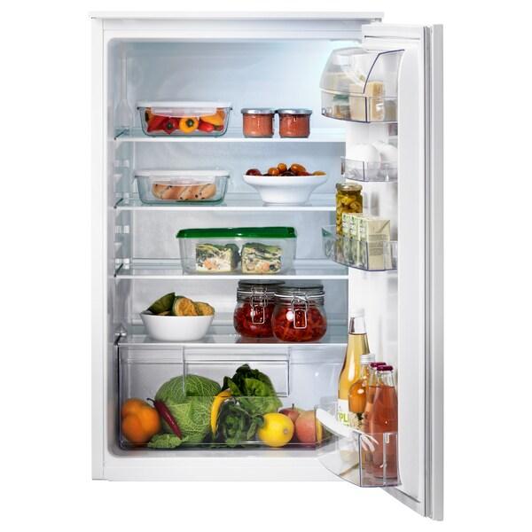 SVALNA Integrated fridge A+, white, 142 l