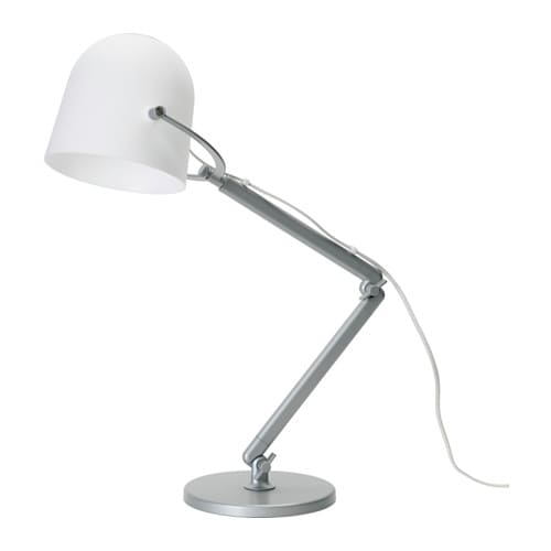 IKEA SVIRVEL work lamp Provides a directed light that is great for reading.