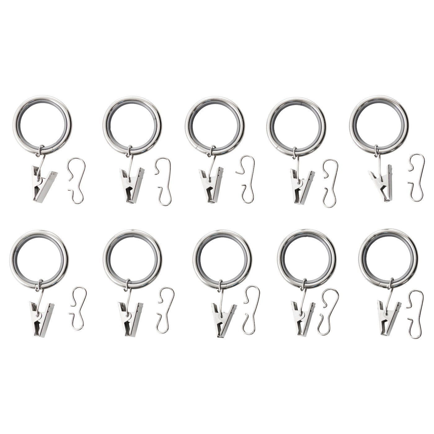 IKEA SYRLIG curtain ring with clip and hook