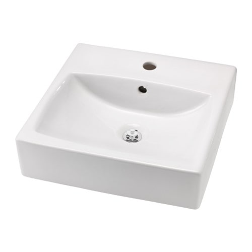 IKEA TÖRNVIKEN countertop wash-basin Unique water trap design gives room for a full sized drawer.