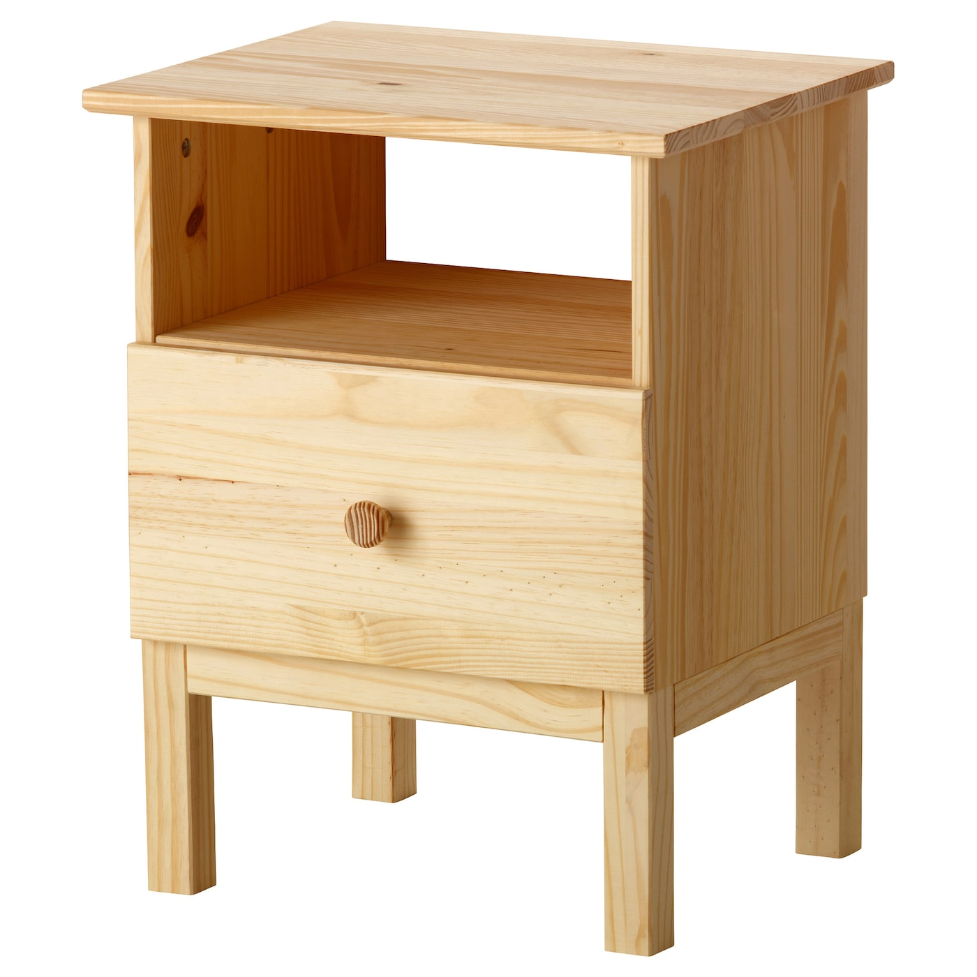 IKEA TARVA bedside table Made of solid wood, which is a hardwearing and warm natural material.