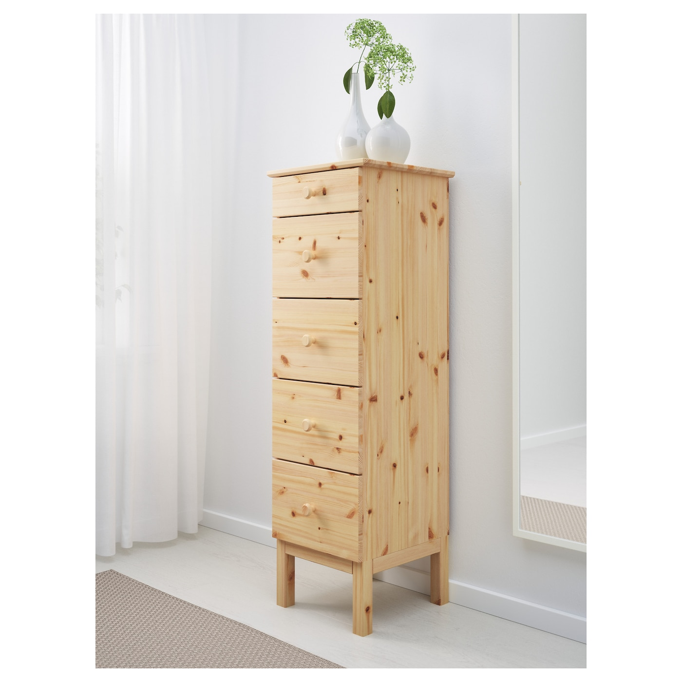 Tarva chest of 5 drawers pine 39x127 cm ikea for Chest of drawers ikea