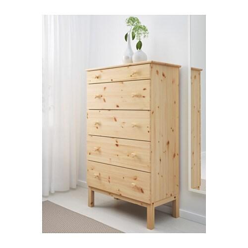 TARVA Chest of 5 drawers Pine 79x127 cm - IKEA
