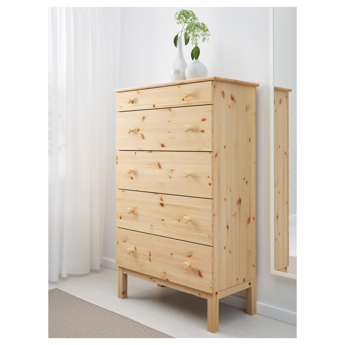 Tarva chest of 5 drawers pine 79x127 cm ikea - Ikea mesillas y comodas ...