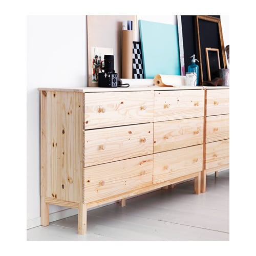IKEA TARVA chest of 6 drawers Made of solid wood, which is a