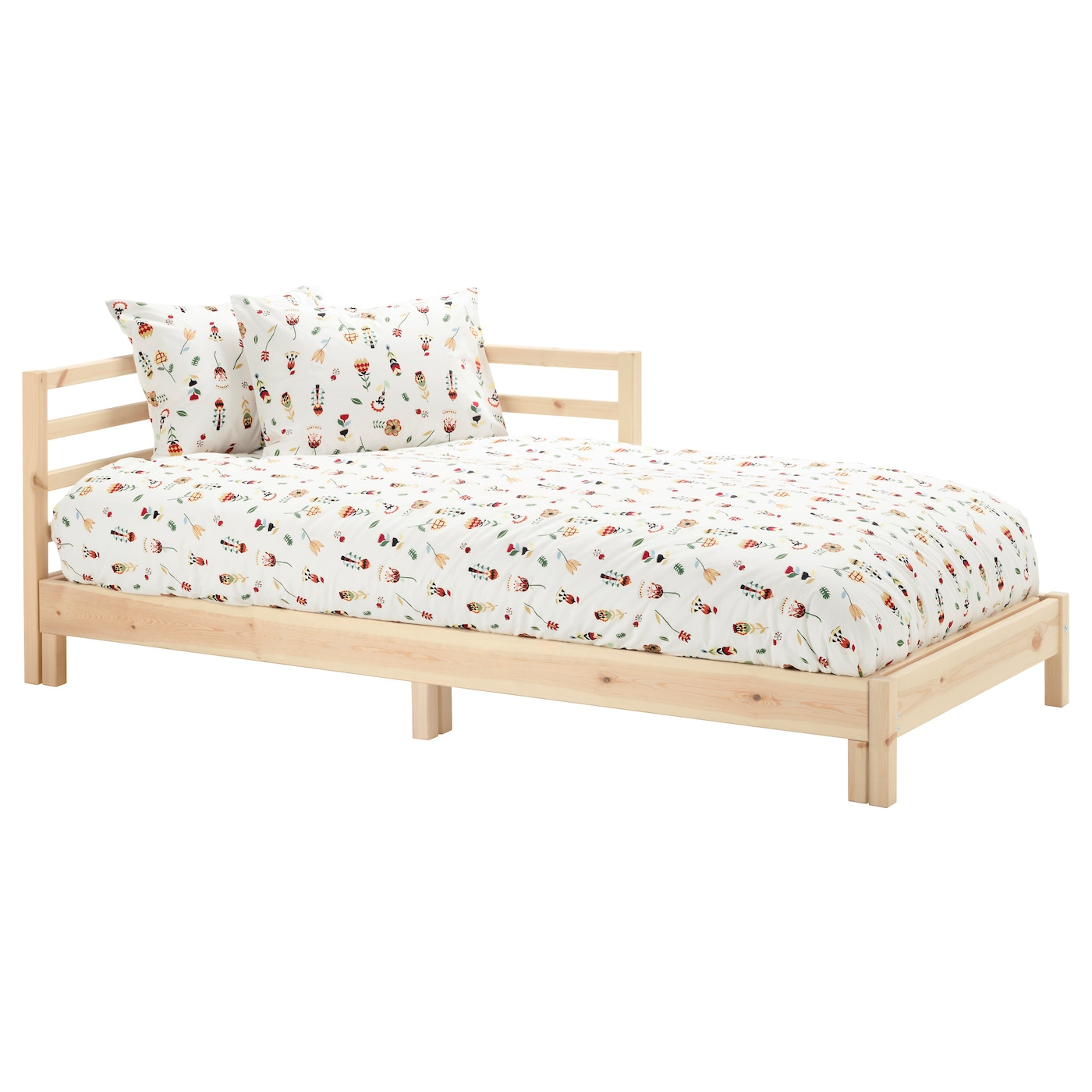 IKEA TARVA day-bed frame The backrest mounts on the right or the left side of the day-bed.