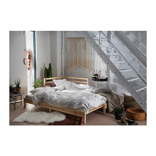 Komplette Zimmereinrichtung Ikea ~   Day bed with 2 mattresses Pine malfors medium firm 80×200 cm  IKEA