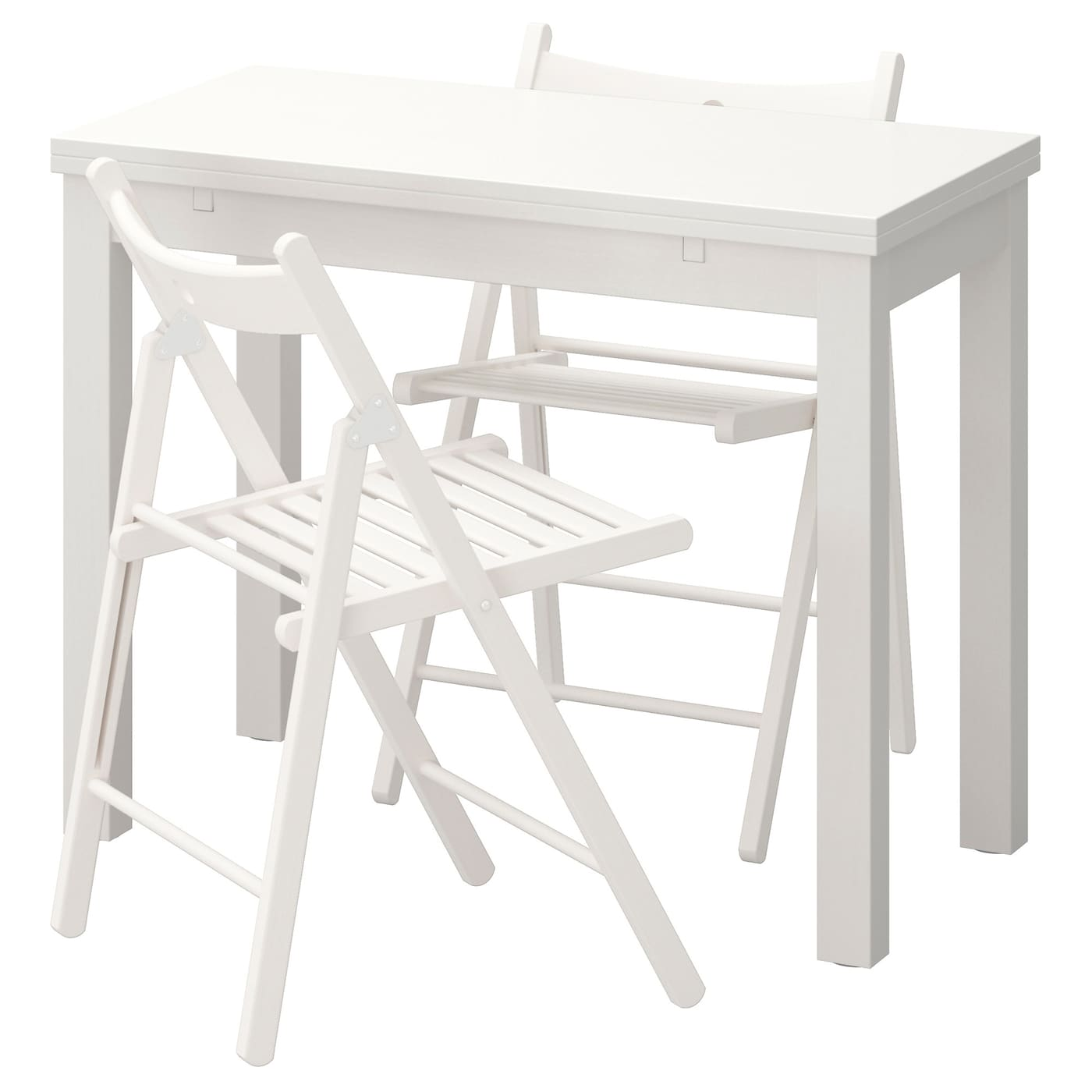 IKEA TERJE/BJURSTA table and 2 chairs Ideal as an end table against a wall.