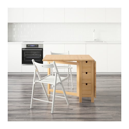 IKEA TERJE/NORDEN table and 2 chairs Solid wood is a hardwearing natural material.