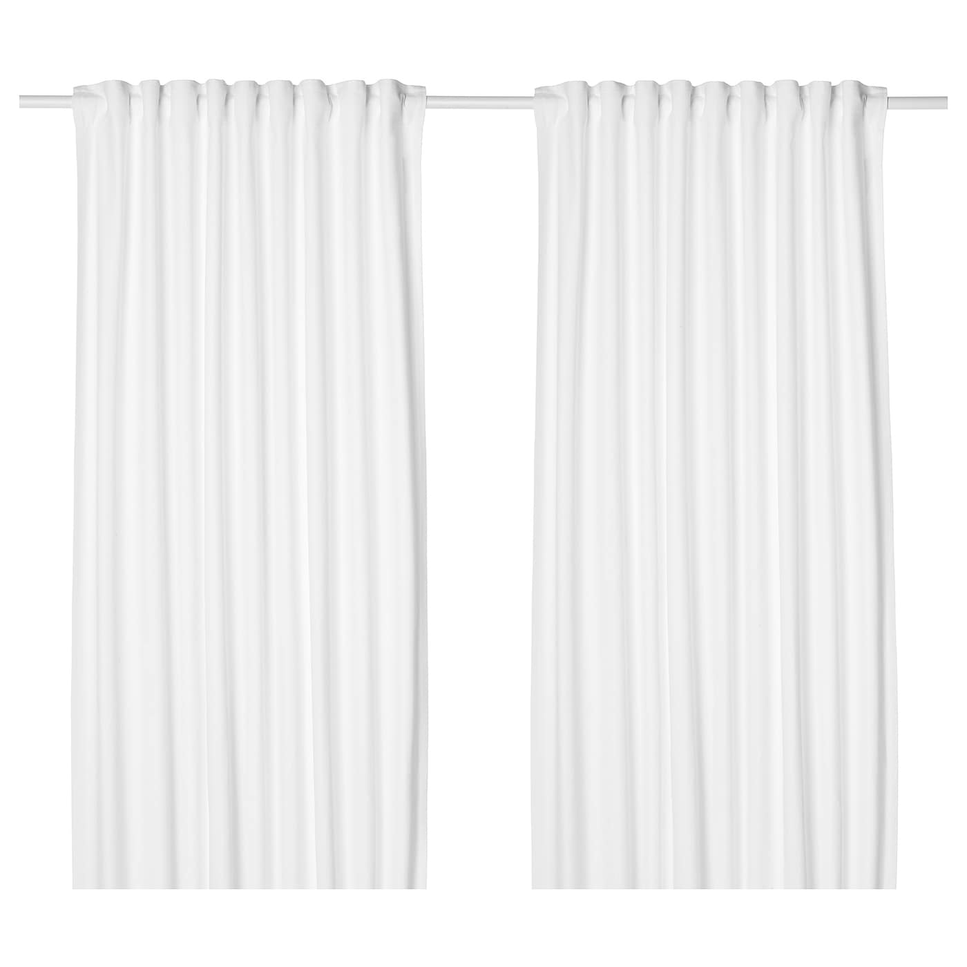 tibast curtains 1 pair white 145 x 250 cm ikea