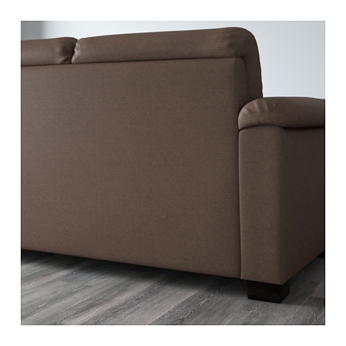 IKEA TIDAFORS corner sofa with arm right The high back gives good support for your neck.