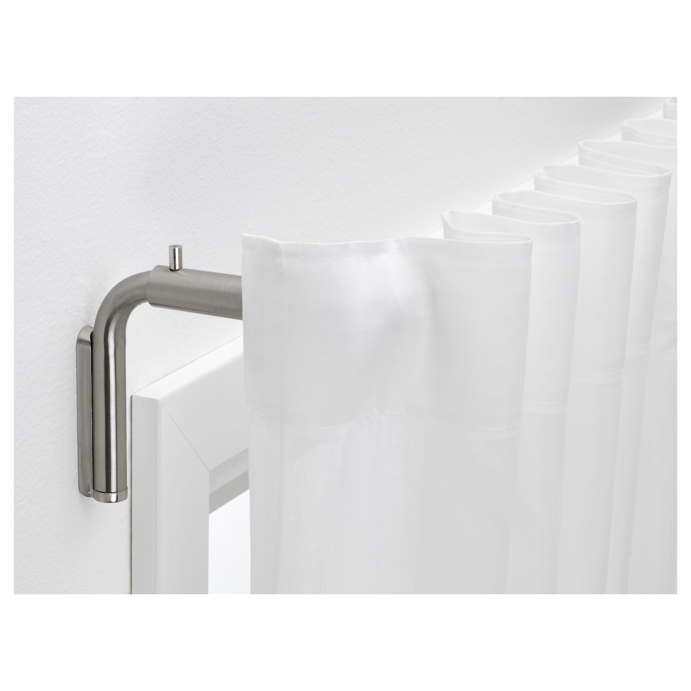 IKEA TIDPUNKT curtain rod set You can adjust the length of the curtain rods to fit your window.