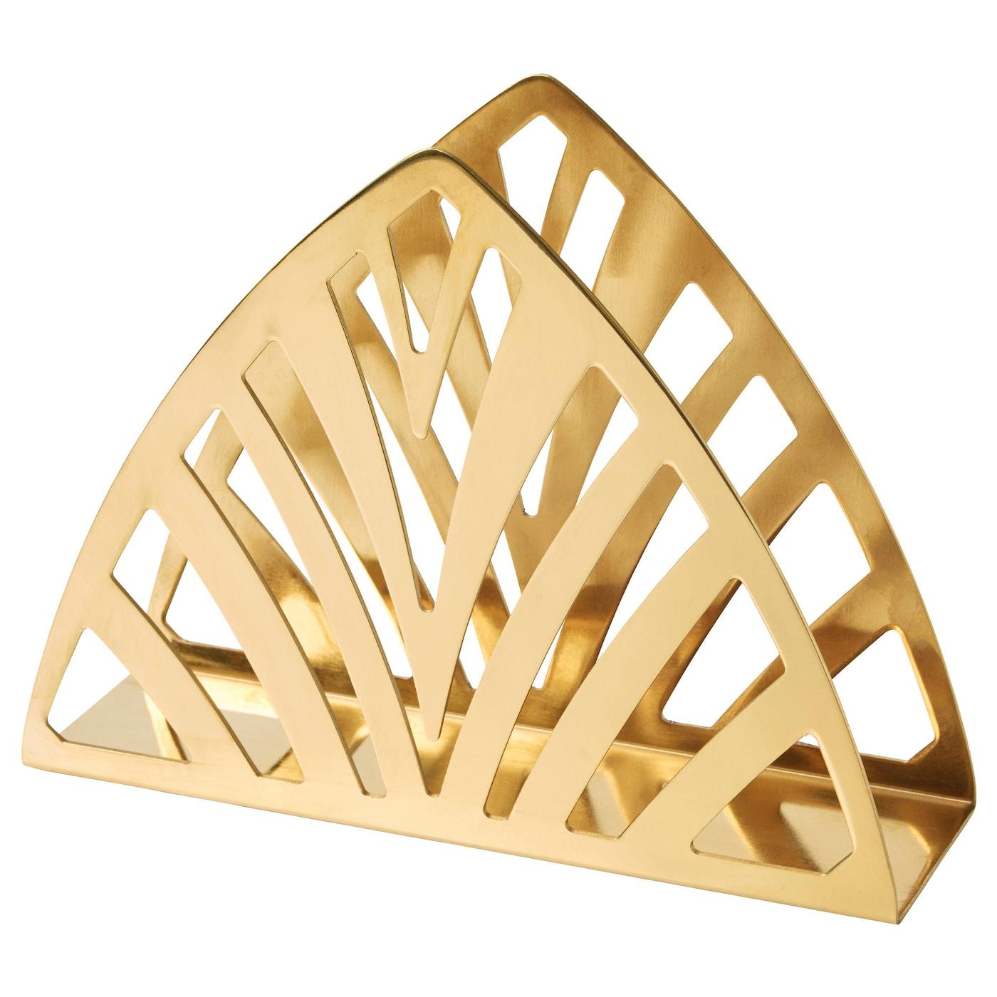 Ikea Rug Holder: GLATTIS Coasters With Holder Brass-colour 8.5 Cm