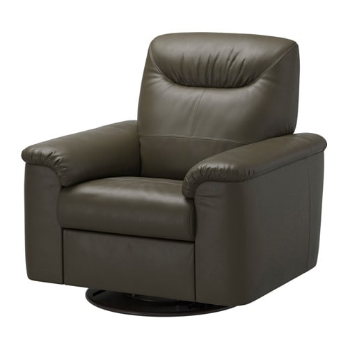 IKEA TIMSFORS swivel recliner The armrests with extra padding are comfortable to lean against.