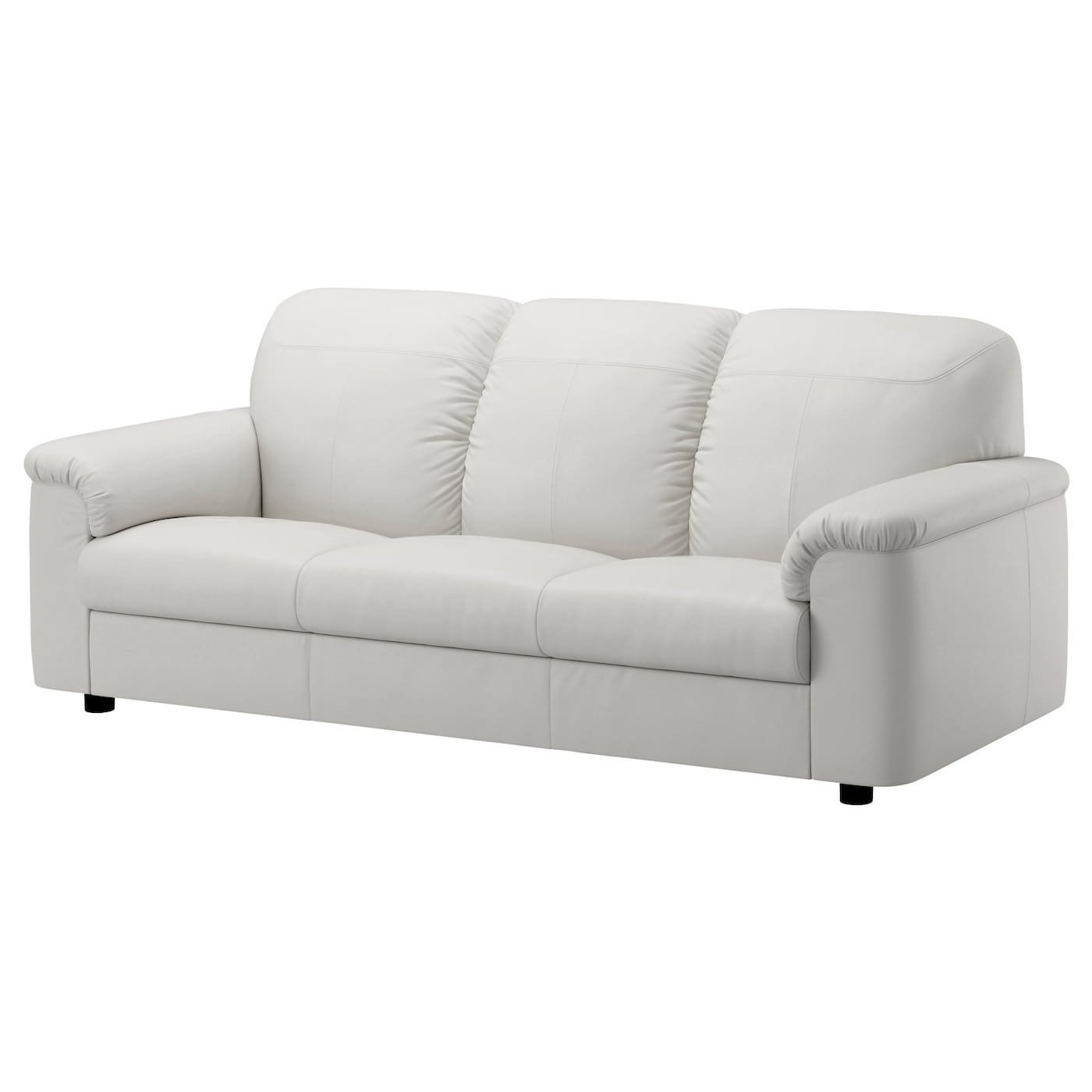 Timsfors three seat sofa mjuk kimstad off white ikea for White divan chair