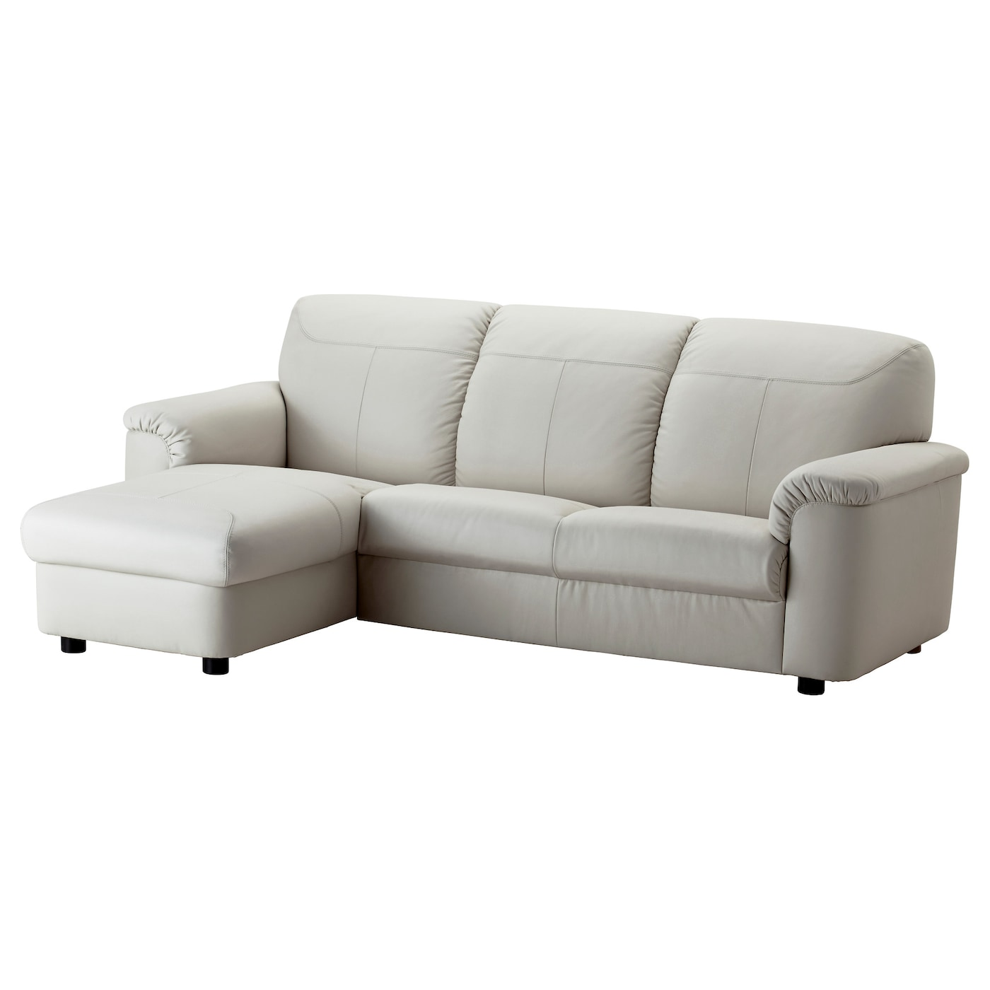 Ikea White Leather Couch Sofas: TIMSFORS Two-seat Sofa With Chaise Longue Mjuk/kimstad Off