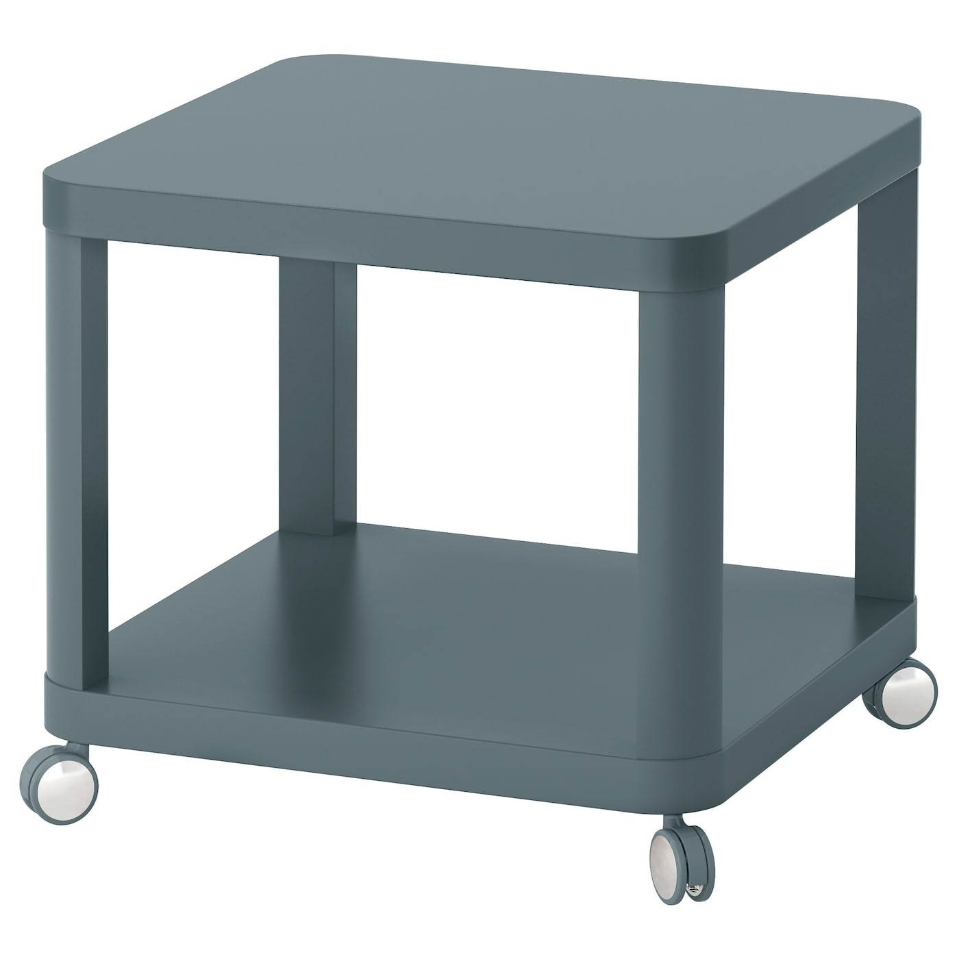 Tingby side table on castors turquoise 50x50 cm ikea Ikea coffee tables and end tables