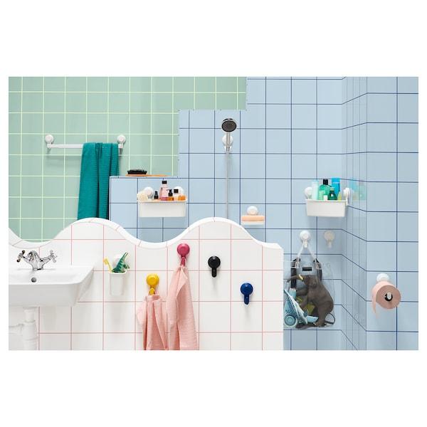 TISKEN corner shelf unit with suction cup white 30 cm 20 cm 17 cm 3 kg