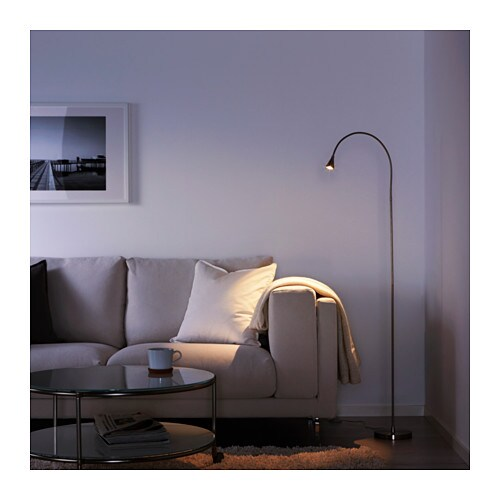 IKEA TIVED LED floor/read lamp Slim design; easy to place in small spaces.