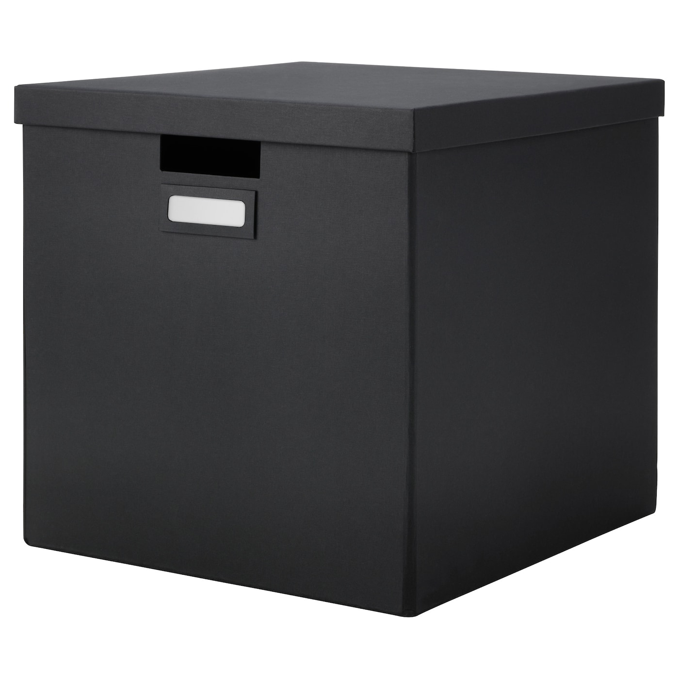 tjena box with lid black 32x35x32 cm ikea. Black Bedroom Furniture Sets. Home Design Ideas