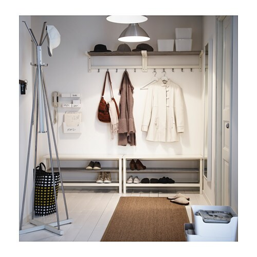 TJUSIG Bench with shoe storage White 108x50 cm - IKEA