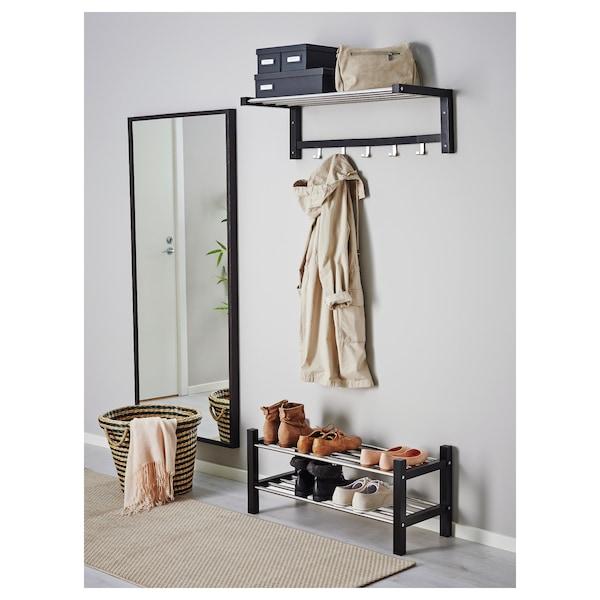 TJUSIG shoe rack black 79 cm 32 cm 37 cm