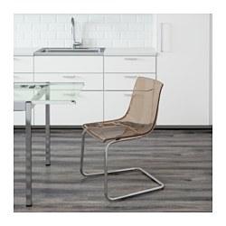 Tobias chair brown chrome plated ikea - Sedia tobias ikea ...