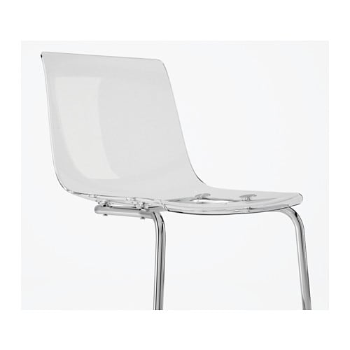 TOBIAS Chair Transparent chrome plated IKEA