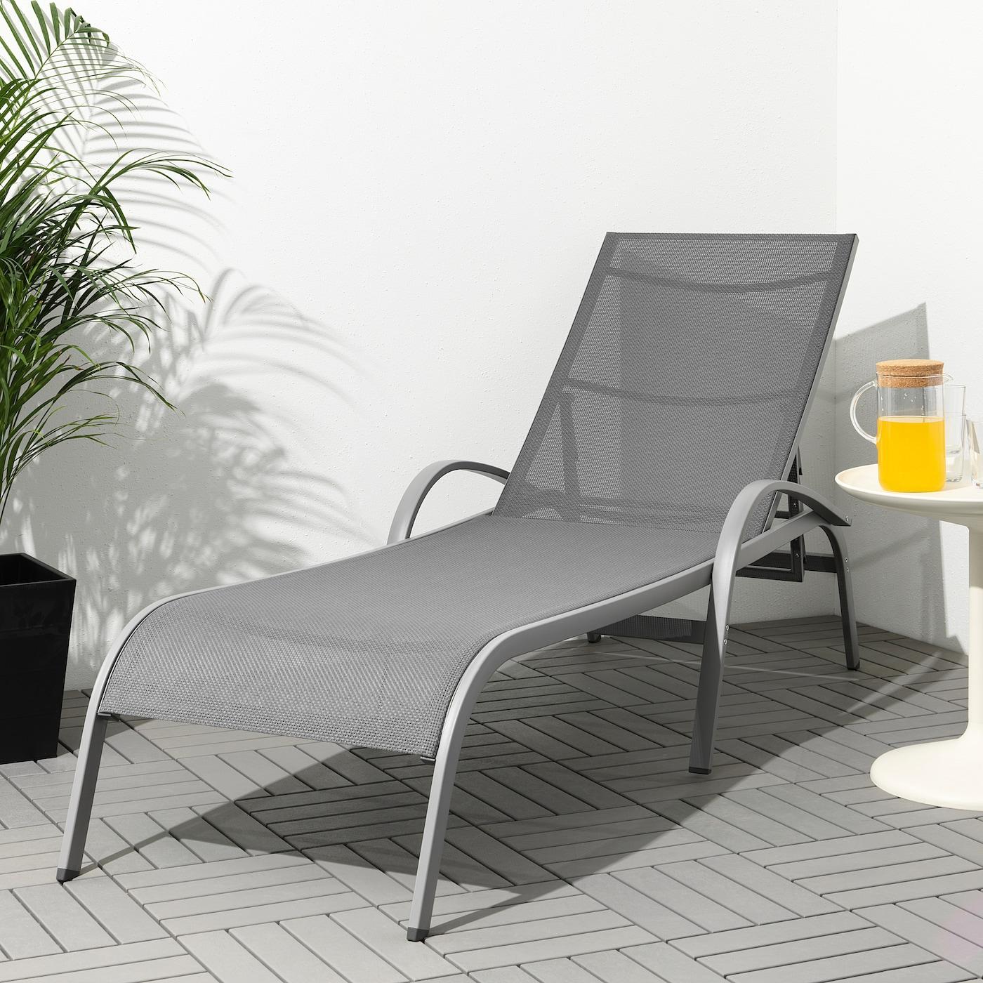 TORHOLMEN Sun lounger - grey