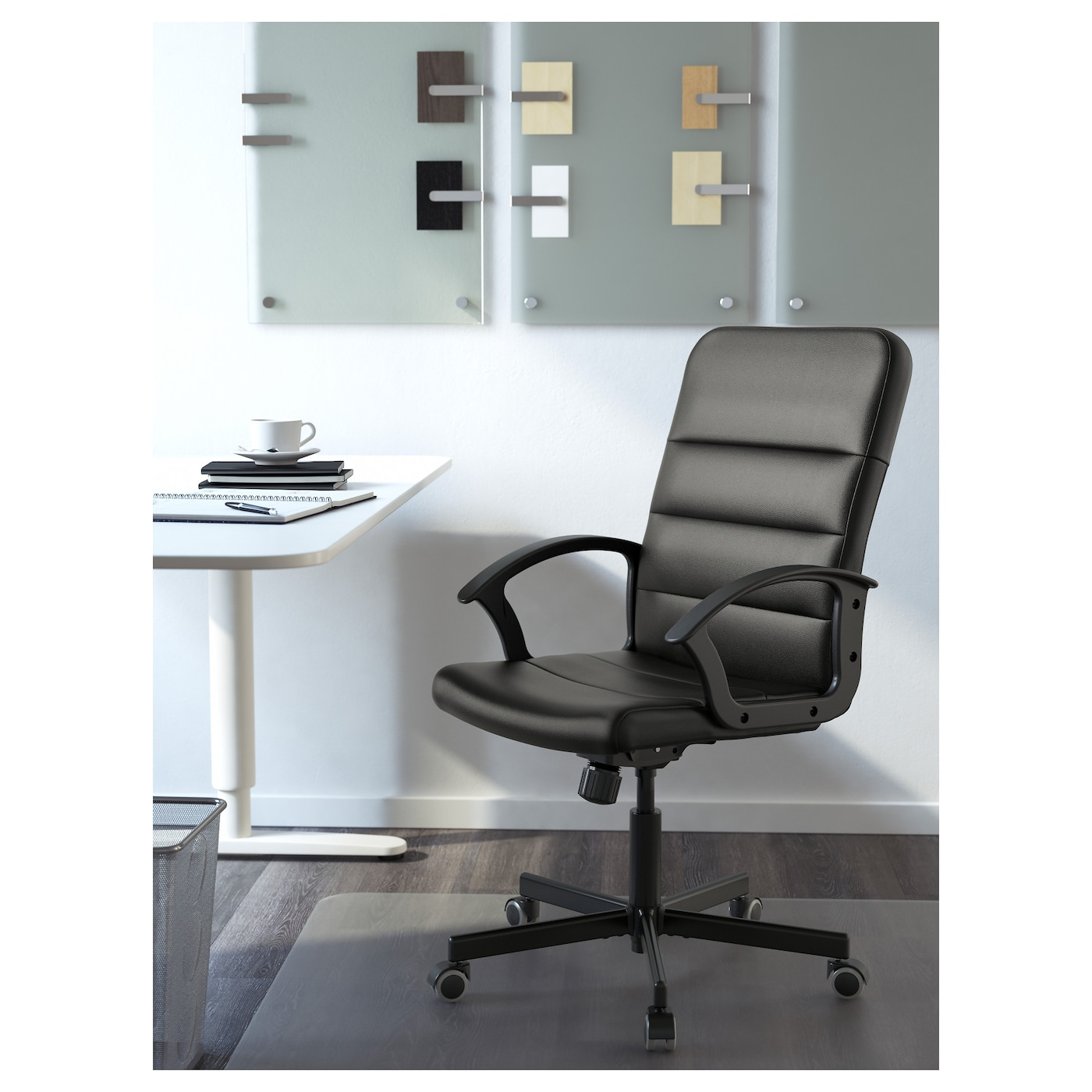 IKEA TORKEL swivel chair You sit comfortably since the chair is adjustable in height.