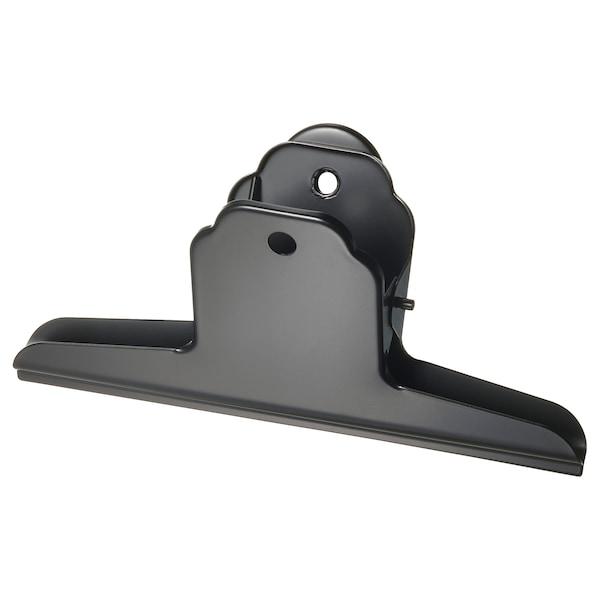 TOTEBO Binder clip with magnet, black, 14.5 cm